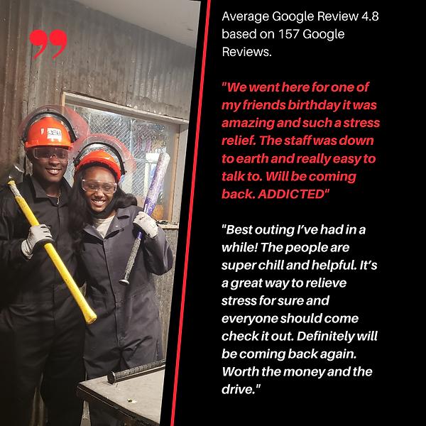 Average Google Review 4.8 based on 157 G