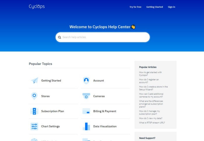 Cyclops help center