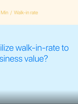 How to utilize walk-in-rate to create business value?
