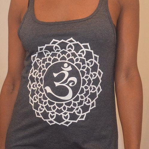 Pure Cotton Om Yoga Vest Top - In 4 Colours
