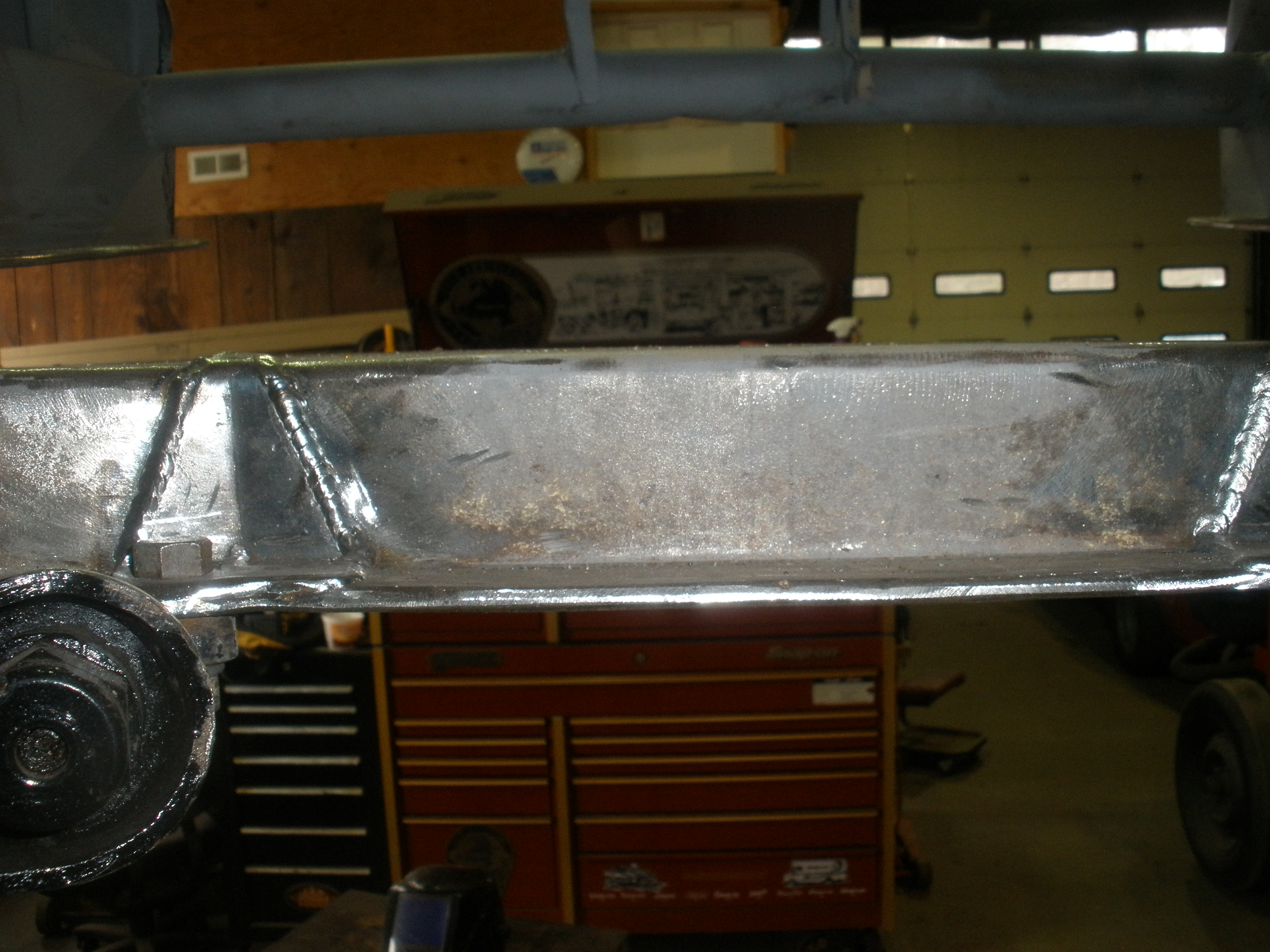 slide 8- rewelded frame and sheet metal.