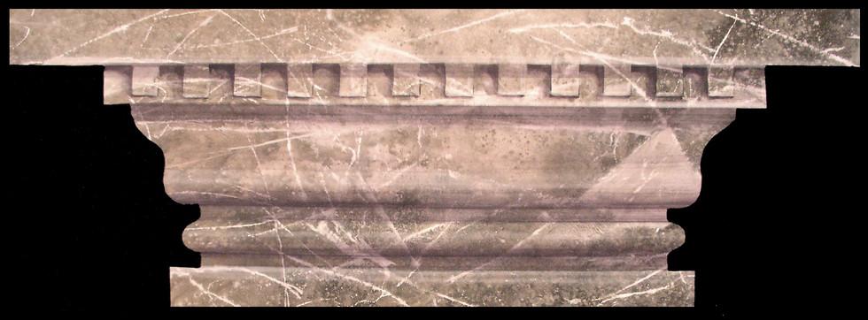Trompe l'oeil painting of marble