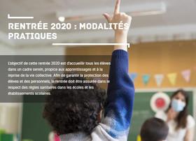 Rentrée 2020 : modalités pratiques