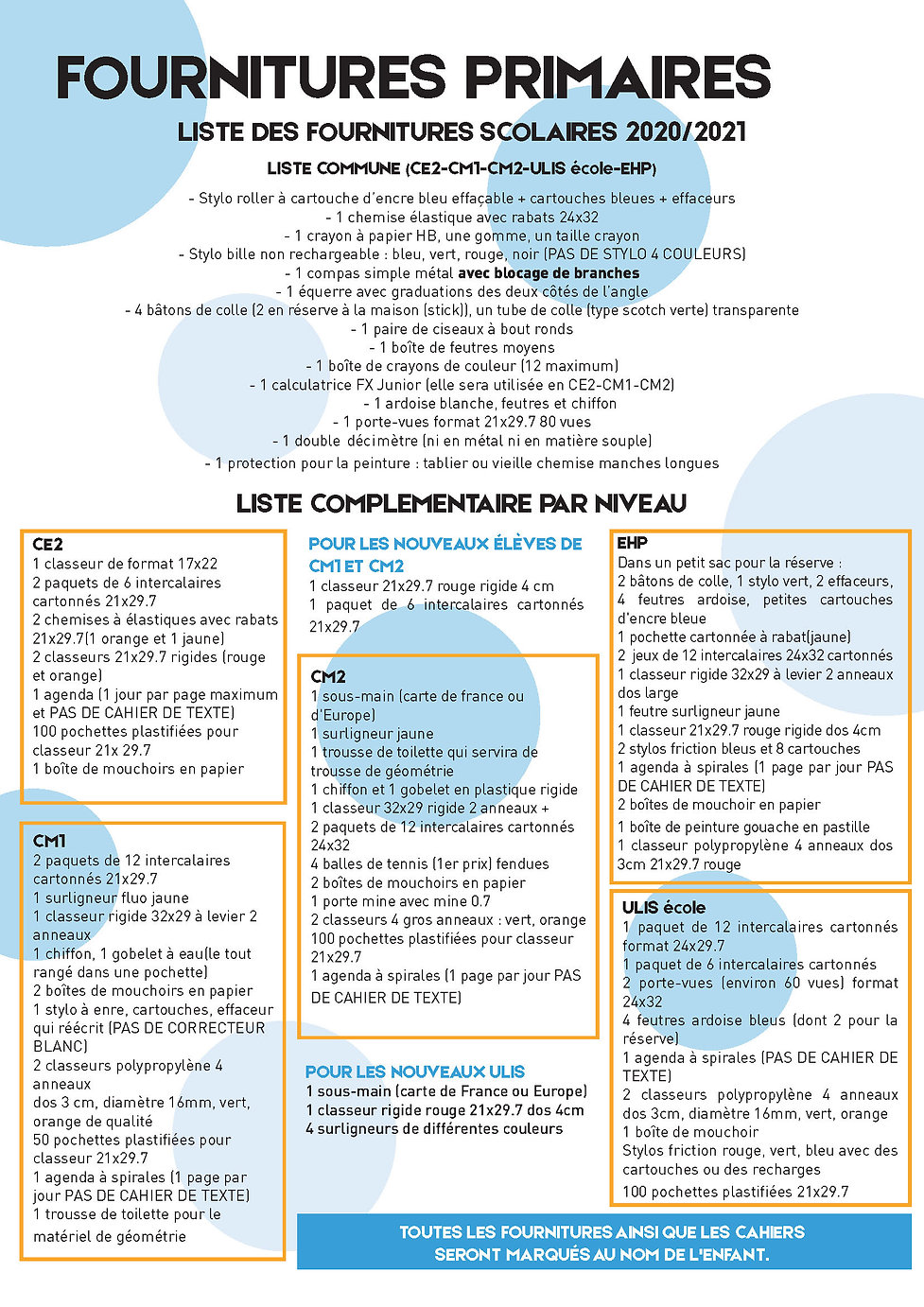 Fournitures Primaire - JOURNAL 2020_Page