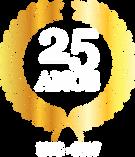 Logótipo que representa a marca dos 25 anos, alcançada pela empresa Irmãos Lopes & Cardoso, Lda