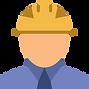 """Ícone representativo de um trabalhador ligado à construção e que dá acesso à página """"Sobre Nós"""", onde pode aceder a informações da empresa Irmãos Lopes & Cardoso, Lda."""