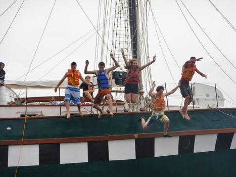 Swim call! Summer camp.