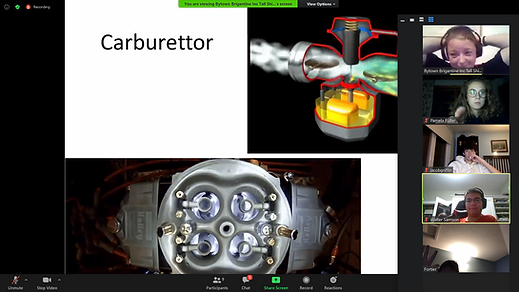 Screen capture from one of our online classes.