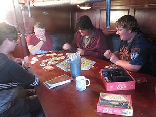 Games below deck. Summer camp.