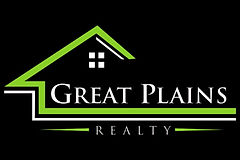 Great Plains Realty Logo Green and White