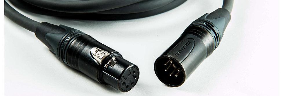 Procab PRD955, DMX-kabel, 5M 5pin