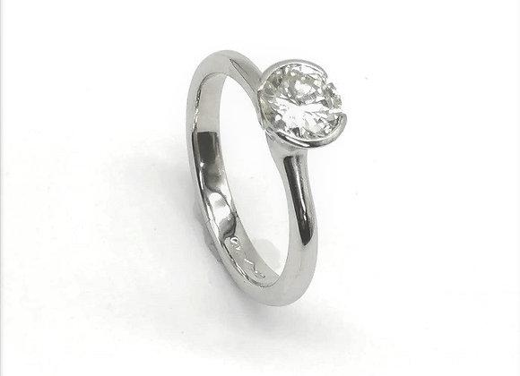 Contemporary Platinum Diamond Ring