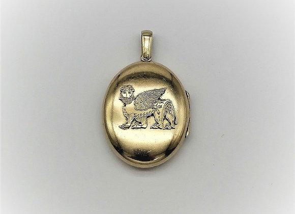 Assyrian Silver Gilt Locket