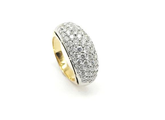 18ct Diamond Bombe Ring