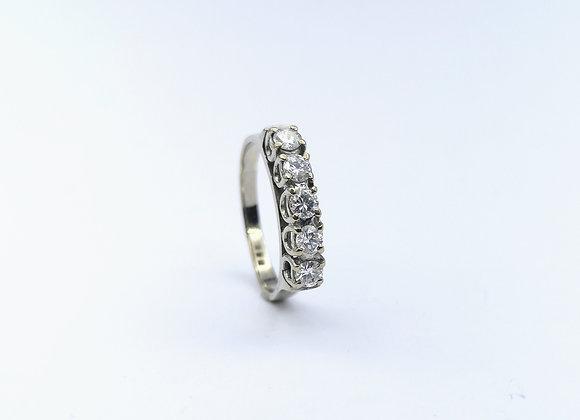 18ct Diamond 5 Stone Eternity Ring