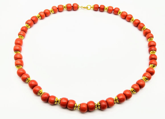 Victorian Gold & Coral Necklace