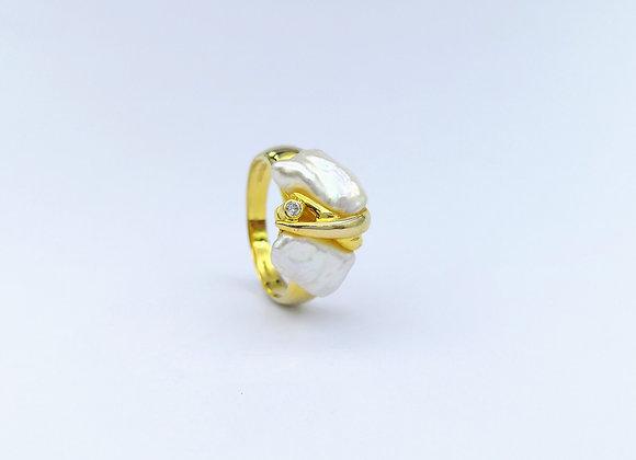 14kt Blister Pearl Ring