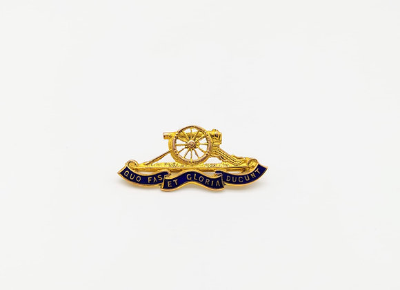 Gold Military Brooch