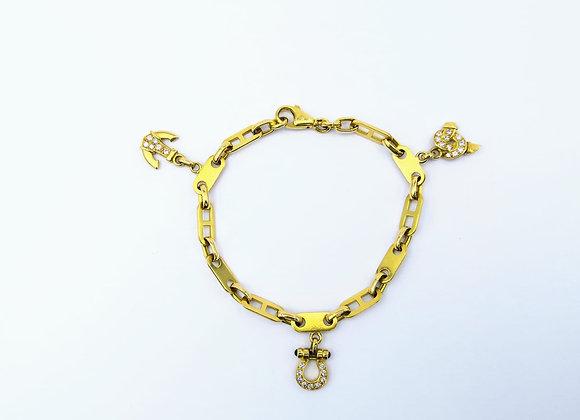 18ct Bracelet With Diamond Charms