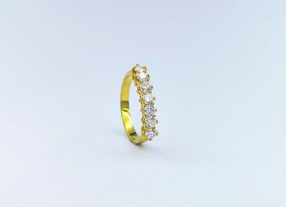 18ct  7 Stone Brilliant Cut Diamond Eternity Ring
