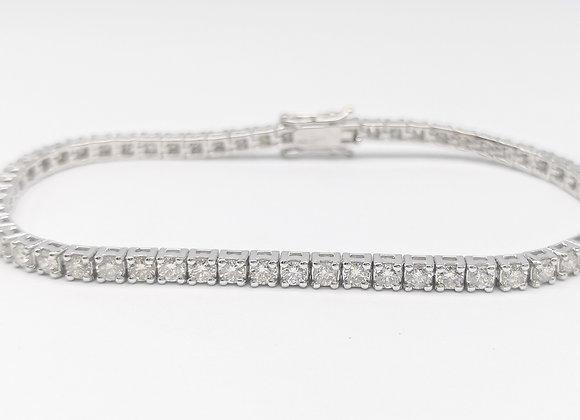 18ct Brilliant Cut Diamond Set Line Bracelet