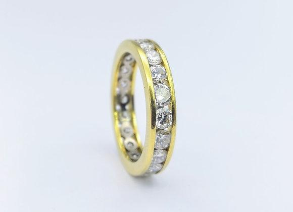 18ct Brilliant Diamond Channel Set Eternity Ring