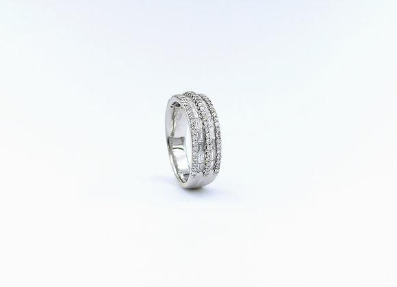 18ct Diamond 4 Row Eternity Ring
