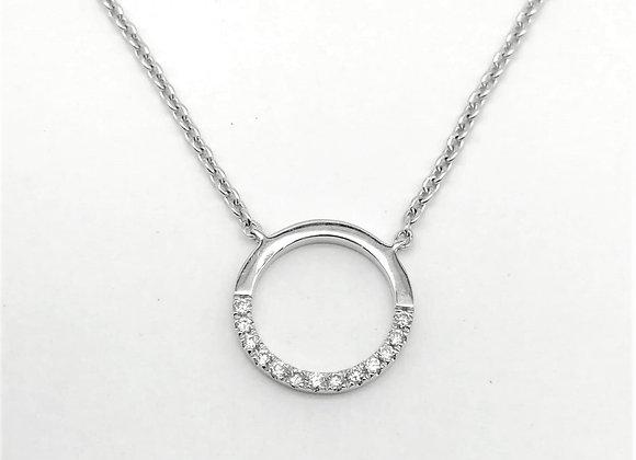 18ct Diamond Circle Pendant