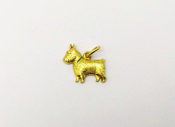 9ct Charm of a Scottie Dog