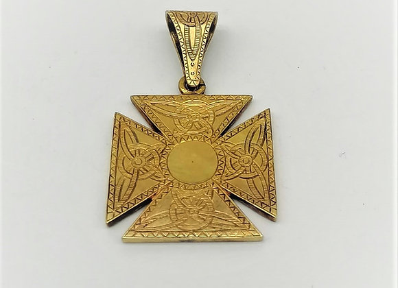 Gold Maltese Cross