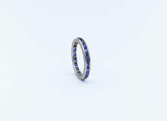 White Gold Sapphire Channel Set Full Eternity Ring