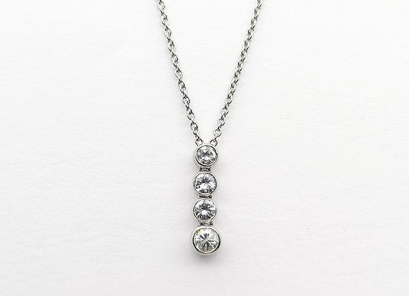 Platinum 4 Stone Diamond Pendant