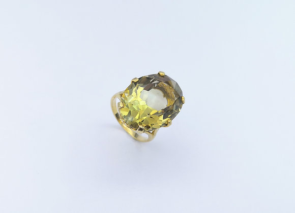 9ct Large Oval Citrine Ring