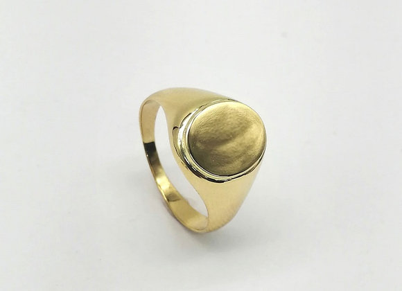 9ct Oval  Signet Ring