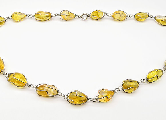 Silver Arts & Crafts Citrine Necklace