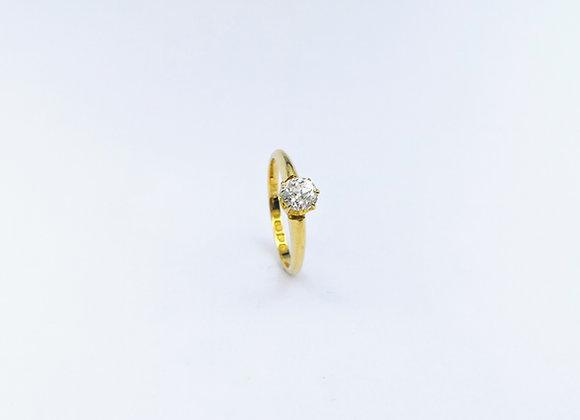 18ct Brilliant Cut Single Stone Diamond Ring