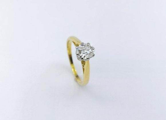 18ct Single Stone Oval Diamond Ring