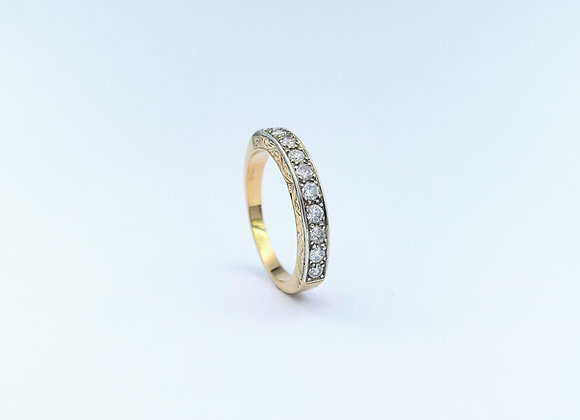 18ct  10 Stone Diamond Channel Set Eternity Ring