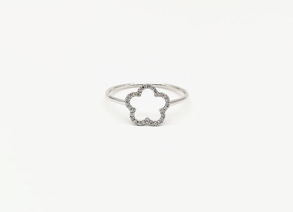 18ct Diamond Flower Motif Ring
