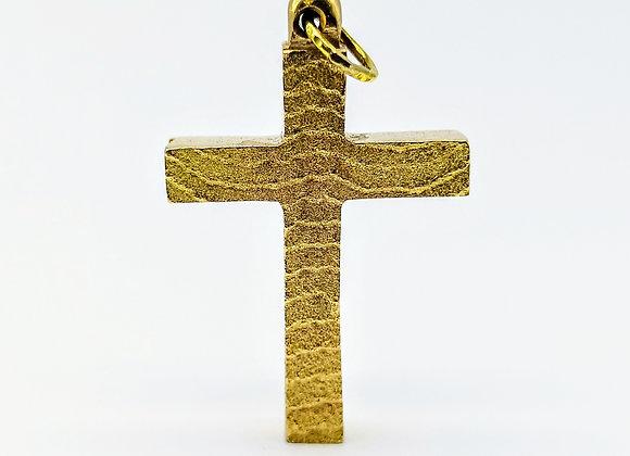 9ct Cross of Textured Design