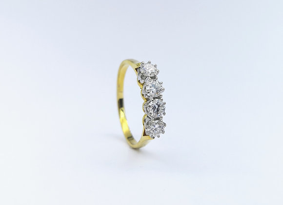 18ct  4 Stone Brilliant Cut Diamond Ring
