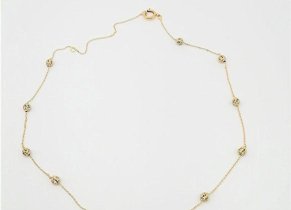 French 18ct & Enamel Chain
