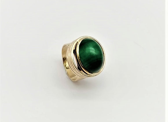9ct Malachite Ring