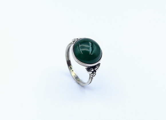 Silver Arts & Crafts Agate Ring