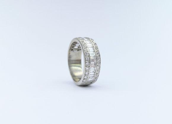 18ct Diamond 3 Row Eternity Ring