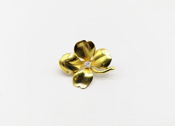 Clover Diamond Brooch