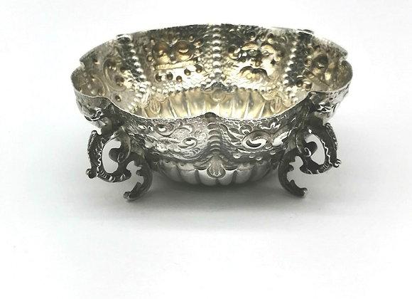 Victorian Silver Masks Dish