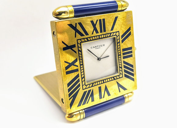 Le Must de Cartier Enamel Travelling Clock