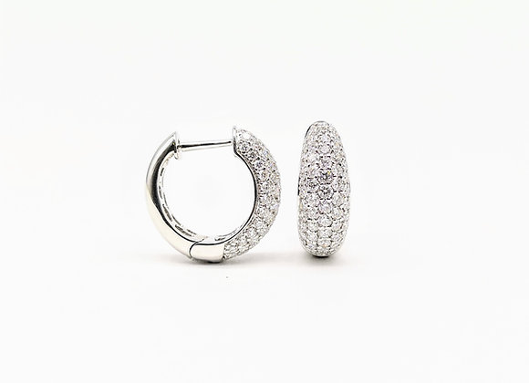 18ct Diamond Huggy Earrings