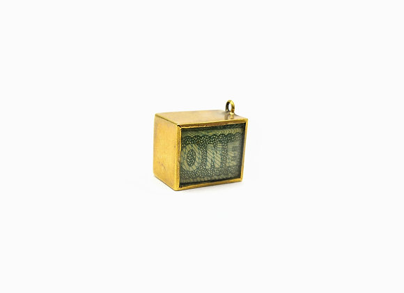 9ct Box Charm £1 Note